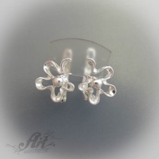 "Сребърни обеци  ""Цветя"" E-149"