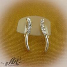 Сребърни обеци с цирконий - E-217