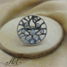 """Сребърен  пръстен с цирконий """" Дървото на живота""""  R-531"""