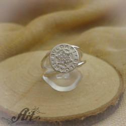"""Сребърен дамски пръстен с цирконий  """" Bvlgari"""" R-381"""