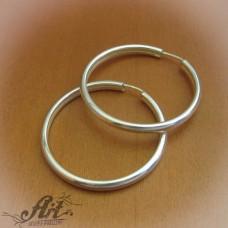 Сребърни обеци халки E-613