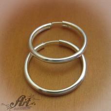 Сребърни обеци халки E-614