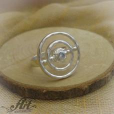 """Сребърен дамски пръстен с цирконий """" Ава""""  R-085"""