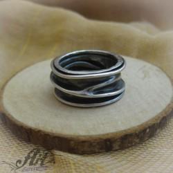 """Мъжки сребърен пръстен """" Халка"""" R-157"""