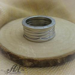 """Мъжки сребърен пръстен """" Халка на Bvlgari"""" R-161"""