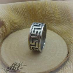 """Мъжки сребърен пръстен """" Халка Версаче"""" R-172"""
