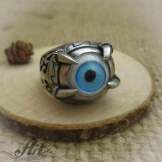 """Мъжки стоманен пръстен """" Всевиждащото око""""  RS-015"""