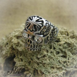 """Мъжки стоманен пръстен """"Череп""""  RS-016"""