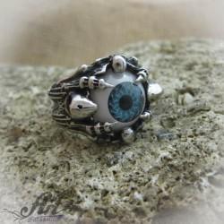 """Мъжки стоманен пръстен """" Око """"  RS-026"""
