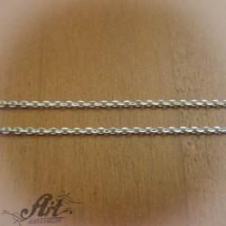 Сребърен синджир , дамски N-120 - 50 см.