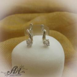 Сребърни обеци с цирконий  -  E-581