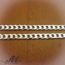 Сребърен синджир, мъжки N-142 - 50 см.