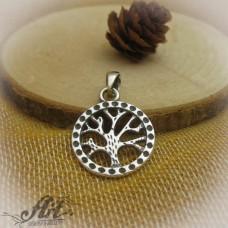"""Сребърен медальон """"Дървото на живота"""" P-509"""