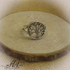 """Сребърен дамски пръстен """" Дървото на живота"""" R-552"""