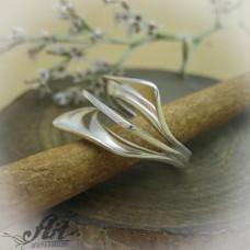 """Сребърен дамски пръстен """"Ветрило"""" R-583"""