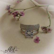 Сребърен  пръстен с цирконий   R-616