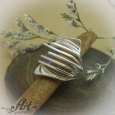 """Сребърен дамски пръстен """"Ветрило"""" R-584"""
