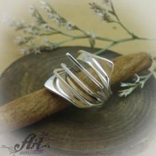 """Сребърен дамски пръстен """"Ветрило"""" R-585"""