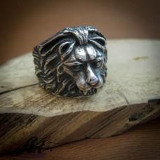 """Мъжки стоманен пръстен """"Лъв"""" RS-032"""