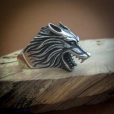 """Мъжки стоманен пръстен """"Вълк"""" RS-033"""
