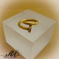 """Стоманена пръстен """"Гвоздей"""" RS-052"""