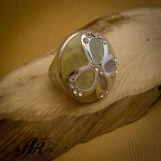 """Стоманен пръстен """"Пеперуда"""" RS-072"""