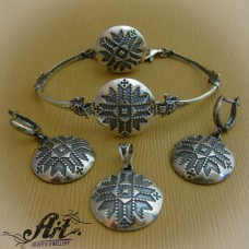 "Дамски сребърен комплект ""Шевица"" S-235"