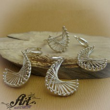 "Дамски сребърен комплект "" Ветрило "" S-233"