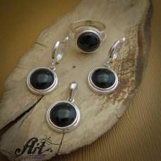 Сребърен комплект с естествени камъни S-249
