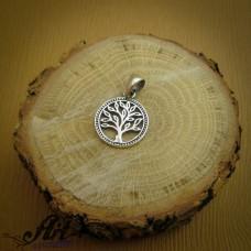 """Сребърен медальон """"Дървото на живота"""" P-682"""