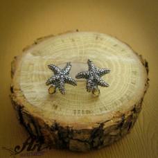 """Сребърни обеци """"Морски звезди"""" - E-776"""