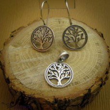 """Дамски сребърен комплект """" Дървото на живота"""""""