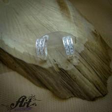 Сребърни обеци с цирконий  -  E-821