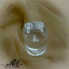 Сребърни обеци с цирконий  -  E-822