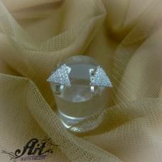 Сребърни обеци с цирконий  -  E-826