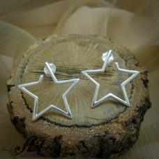 """Сребърни обеци  """"Звезди"""" E-827"""