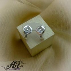 Сребърни обеци  с цирконий - Е-845