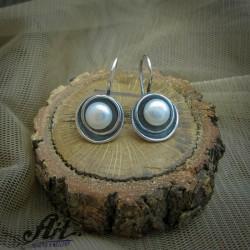 Сребърни обеци с естествени камъни - E-850