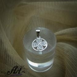 """Сребърен медальон  """"Детелинка"""" P-309"""