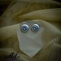 Сребърни обеци  с цирконий - Е-858