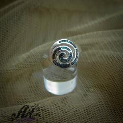 Сребърен пръстен с цветен седеф R-678