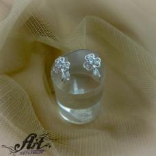 Сребърни обеци с цирконий  -  E-823