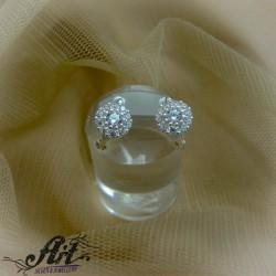 Сребърни обеци с цирконий  -  E-824