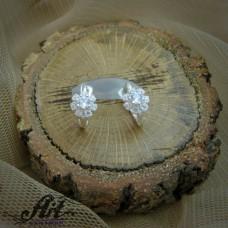 Сребърни обеци с цирконий  -  E-825