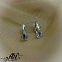 Сребърни обеци с цирконий  -  E-828