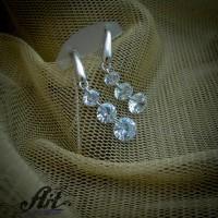 Сребърни обеци с цирконий  -  E-851
