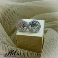 """Сребърни обеци """"Дървото на живота"""" -  E-853"""