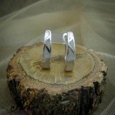 Сребърни обеци с бял седеф - E-873