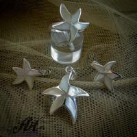 """Дамски сребърен комплект """"Морска звезда"""" S-264"""