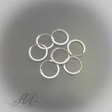 Сребърни обеци халки